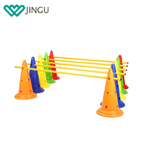 Pet Dogs Outdoor Games Agility Exercise Training Poles Agility Jump Hurdle Set