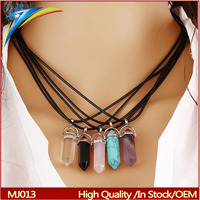 Wholesale Fashion Necklace Pendant Nature Stone Shaped lastest design in necklace stone necklace