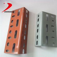 popular powder coated steel slotted angle