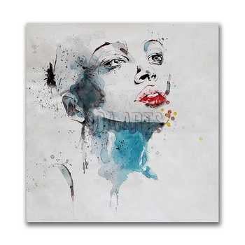 Portrait Of Woman Abstract Art Canvas Paintings