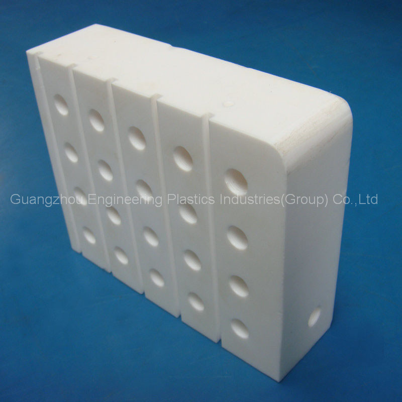 CNC machining customized as drawing ptfe board teflon plastic block part