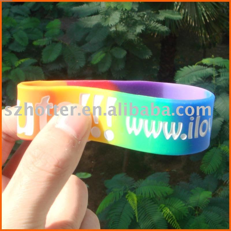 cheap silicone custom ink-filled silicone bracelet,silicone band