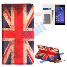 2 in 1 Detachable Silk Pattern Magnetic Stand Flip Leather Case for Sony Xperia Z2 L50W D6502 D6503
