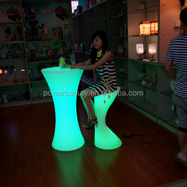 led high top bar table furniture BSCI Factory