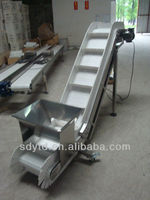 L type Inclined conveyor belt for food industry