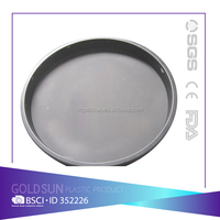 Plastic custom round anti-slip coating bar serving tray