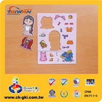 For child game customized magnetic dress up paper doll