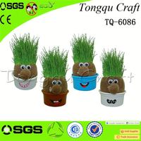 Promotional Gifts toy harvester grass head doll dy toy , plastic insect toy