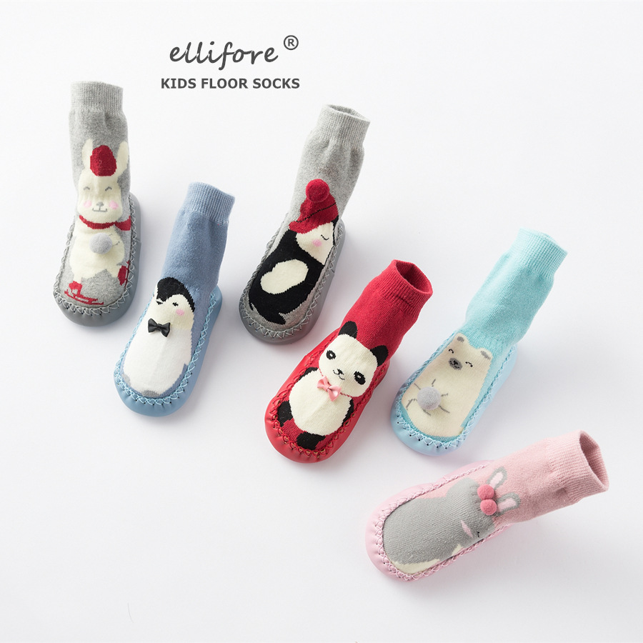 Wholesale 100% cotton compression soft touch winter thick thermal terry newborn baby shoe socks manufacturer