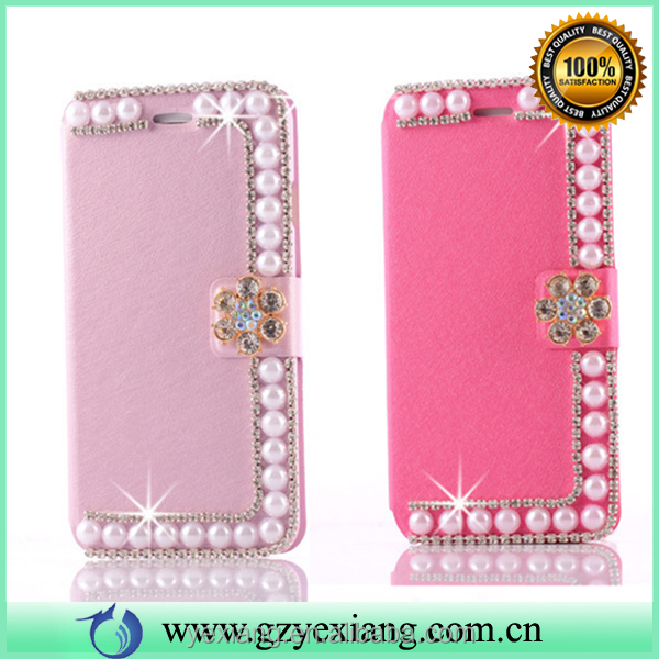 Mobile phone accessories wallet case cover for iphone 4s pu leather skin flip cover case with card slot