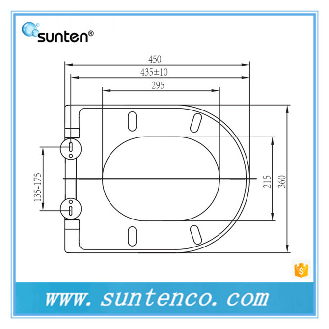 Sanitary Ware Floor Mounted Urea Material Orange Toilet Seat Factory