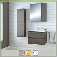 Cheap wall mounted thermofoil pvc bathroom mirror cabinet