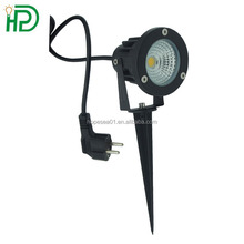high power aluminum fixture 7w led garden landscape light with 3M wire and french plug