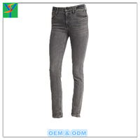 Fashionable Skinny Solid Color lady Jeans for women