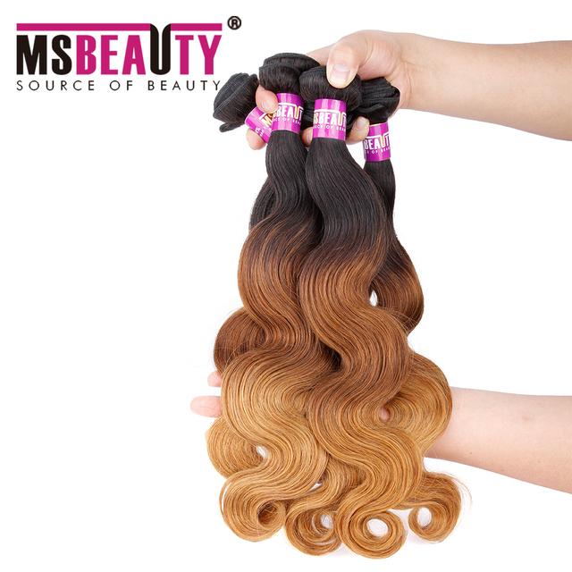 Wholesale 100 percent brazilian remy human hair ombre body wave virgin brazilian hair