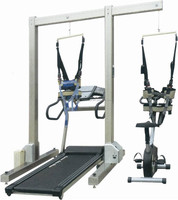 Electrical Training Frame with medical slow treadmill and upright power bike