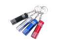 3 LED Promotion Mini Aluminium light wholesale LED Flashlight Keychain