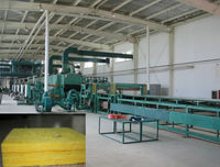 insulation glass wool rock wool bats production line