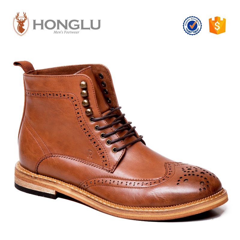 Quality Classic Men Boots, Comfortable Men Brogue Boots, Hot Sale Men Casual Boots