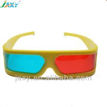JAXY wholesle Plastic custom logo Red blue/cyan 3D glasses for 3D movie games and TV