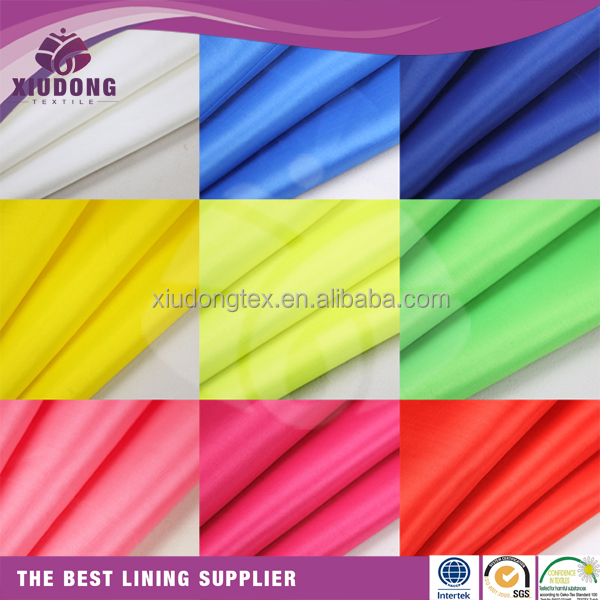 white lining fabric taffeta weave fabric