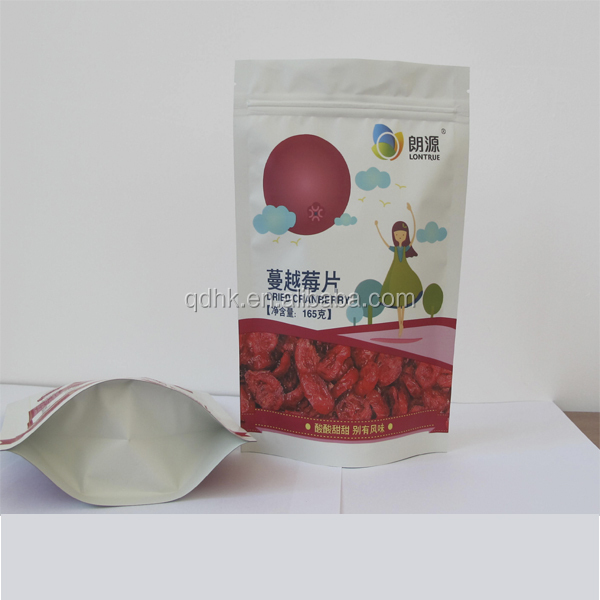 plastic aluminum foil dried red berry bags