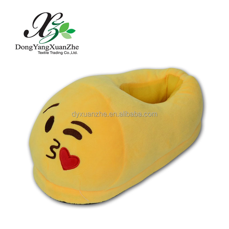 XZ-1S Dongyang XuanZhe PP Cotton Wholesale New Design High Quality Emoji Shoes And Poop Emoji Kids Slipper