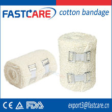 CE approved medical bandage material:100%pure cotton