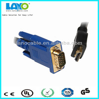 30CM 1FT HDMI to VGA Gilded Cable Adapter Cord For HD 1080P HD-SDI and HDMI CCTV Camera DVRs