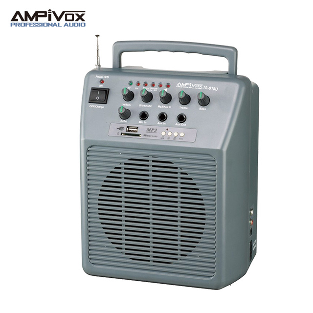 Portable Wireless PA Amplifier with USB&TF card player TA-918U