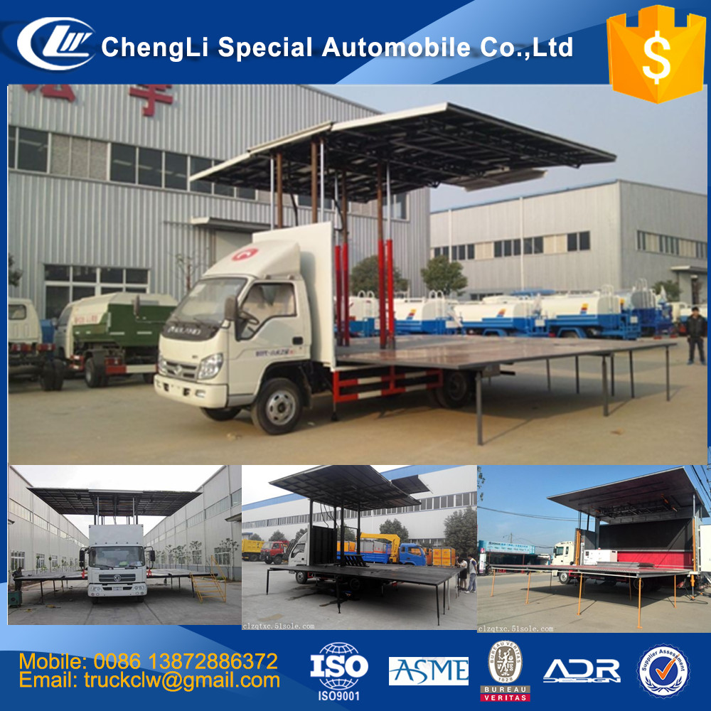 Foton Wing Body Van Truck with stage 6mx6m 36m3 6mx4m 24m3 7mx3m 21m3 LHD RHD Moving stage vehicle Good performance discount