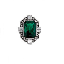 New fashion ring design unisex gemstone ring men emerald ring