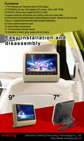 9inch toyota headrest dvd player with FM,Touch screen,IR,BT,HDMI