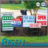 Best price corflute yard sign with H stake
