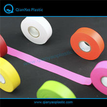 Non-adhesive PVC Grid Texture Flagging Tape, Colourful Plastic binding Tape