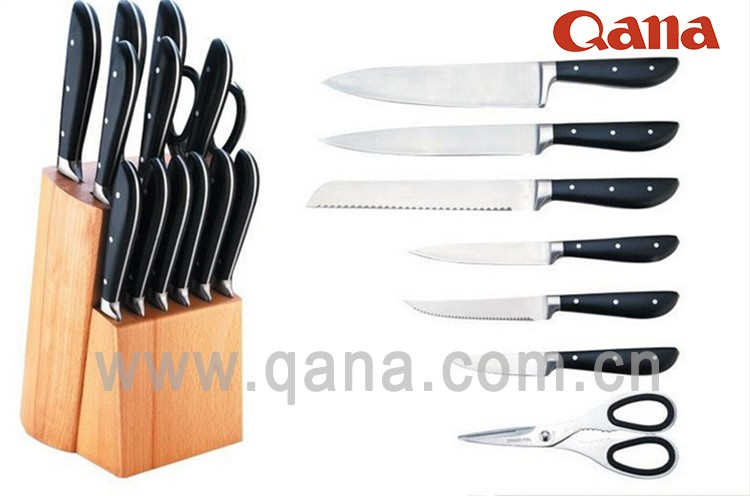 Qana royal kitchen knife set with wooden handle buy for Royal kitchen set