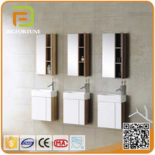 Wall Mounted China Commercial corner single cabinet vanity bathroom mirror and side cabinets