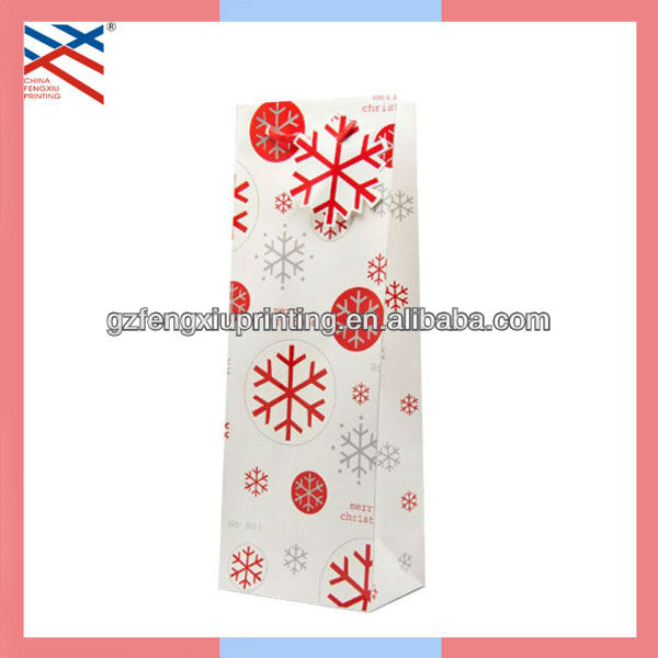 Customized Christmas Paper Wine Bag