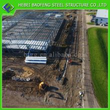 High quality modular workshop building q345b weleded h beam frame light steel warehouse