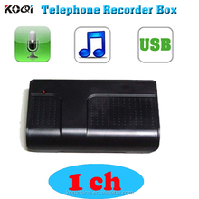 1 CH USB Telephone Voice Recording Case Voice Logger