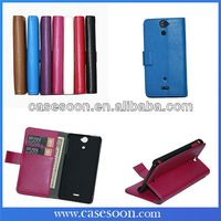 For Sony Xperia V LT25i Case,New Wallet Leather Case for Sony Xperia V LT25i Sony Cover Wallet Card Holder Phone Case