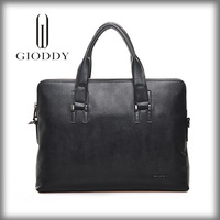 Men Crazy Horse Leather Messenger Gioddy men business office shoulder bag