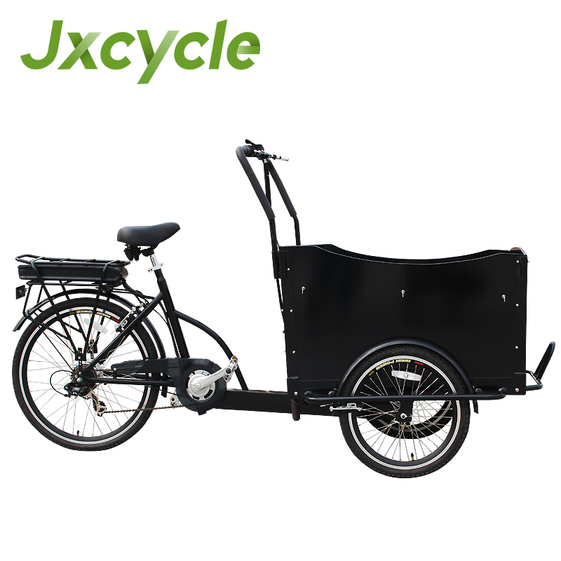 goods van with 3 wheel electric bike
