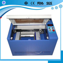 40w High cutting thickness second hand co2 laser engraving machine for clothing fabric