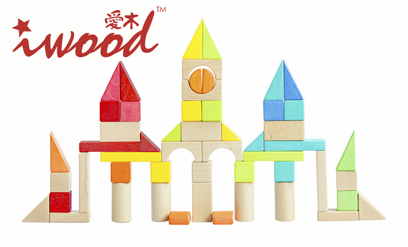 Wooden Blocks Baby Memory Medium Toys DIY High-end Blocks Factory creative toy