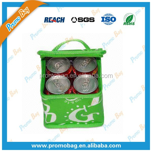 Printed Polyester Can Cooler Cag Bottle Cooler Bag