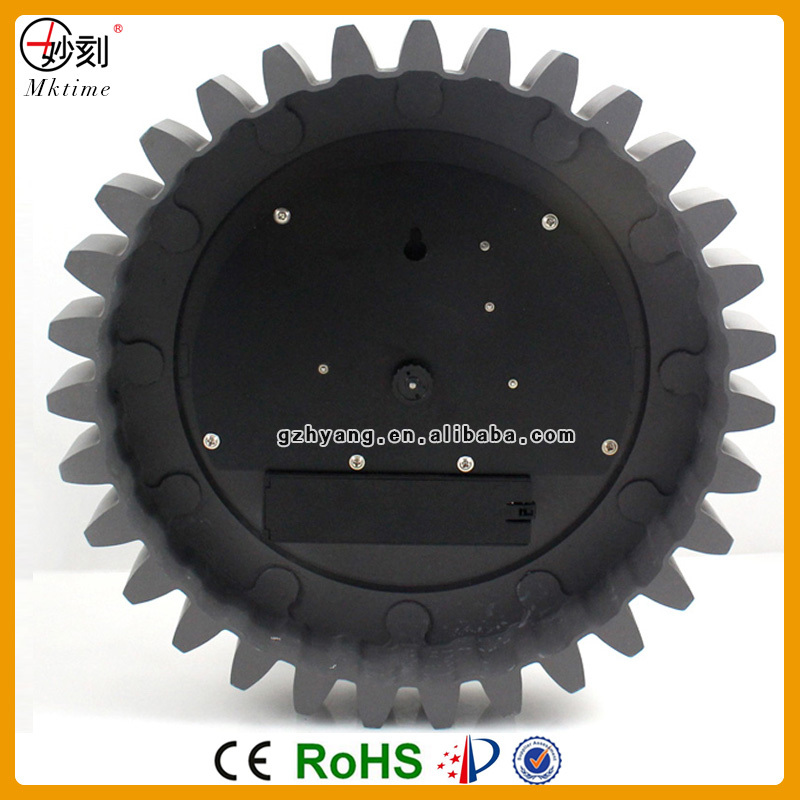 Mktime Plastic Gear Cheap Wall Clock with factory design patent