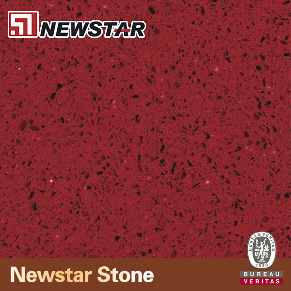 NQ1008R- Newstar wholesale red shimmer artificial crystal red quartz