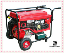hot saling 6kw air-cooled small petrol generator for sale with wheels and rails at best price
