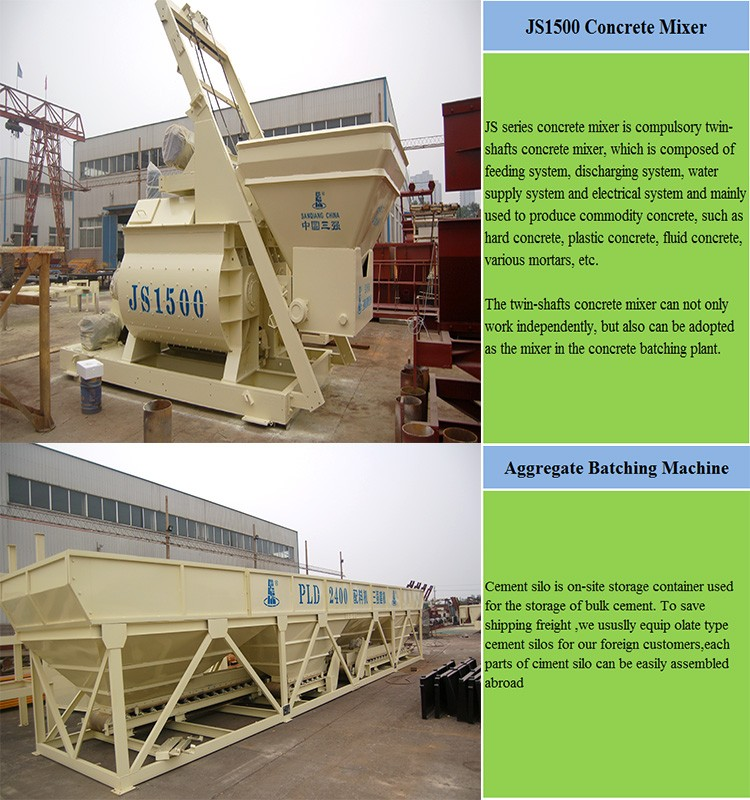 SANQ YHZS75 Factory Price Mobile Concrete batching plant for sale